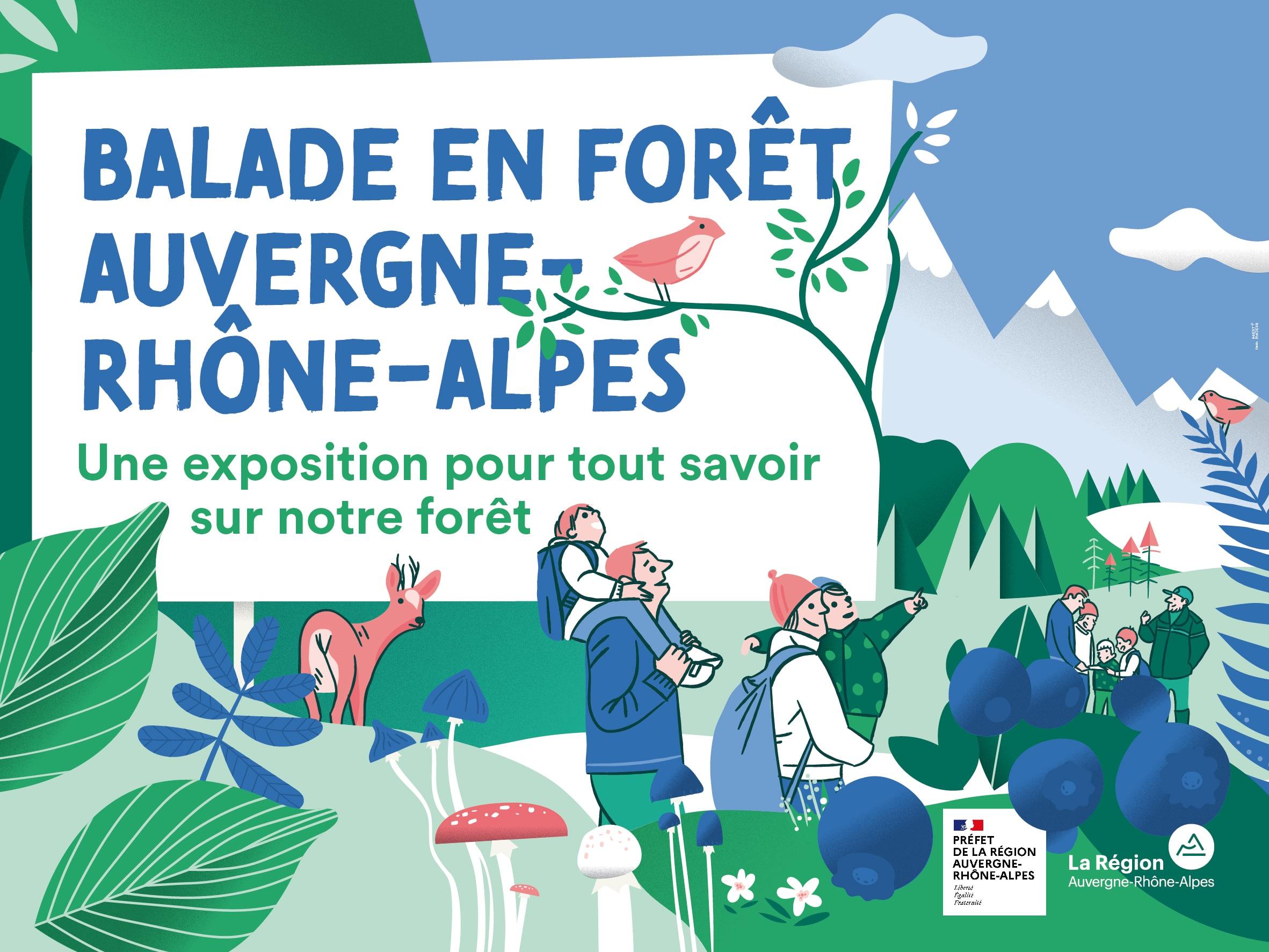 Exposition itinérante Balade en forêt Auvergne-Rhône-Alpes