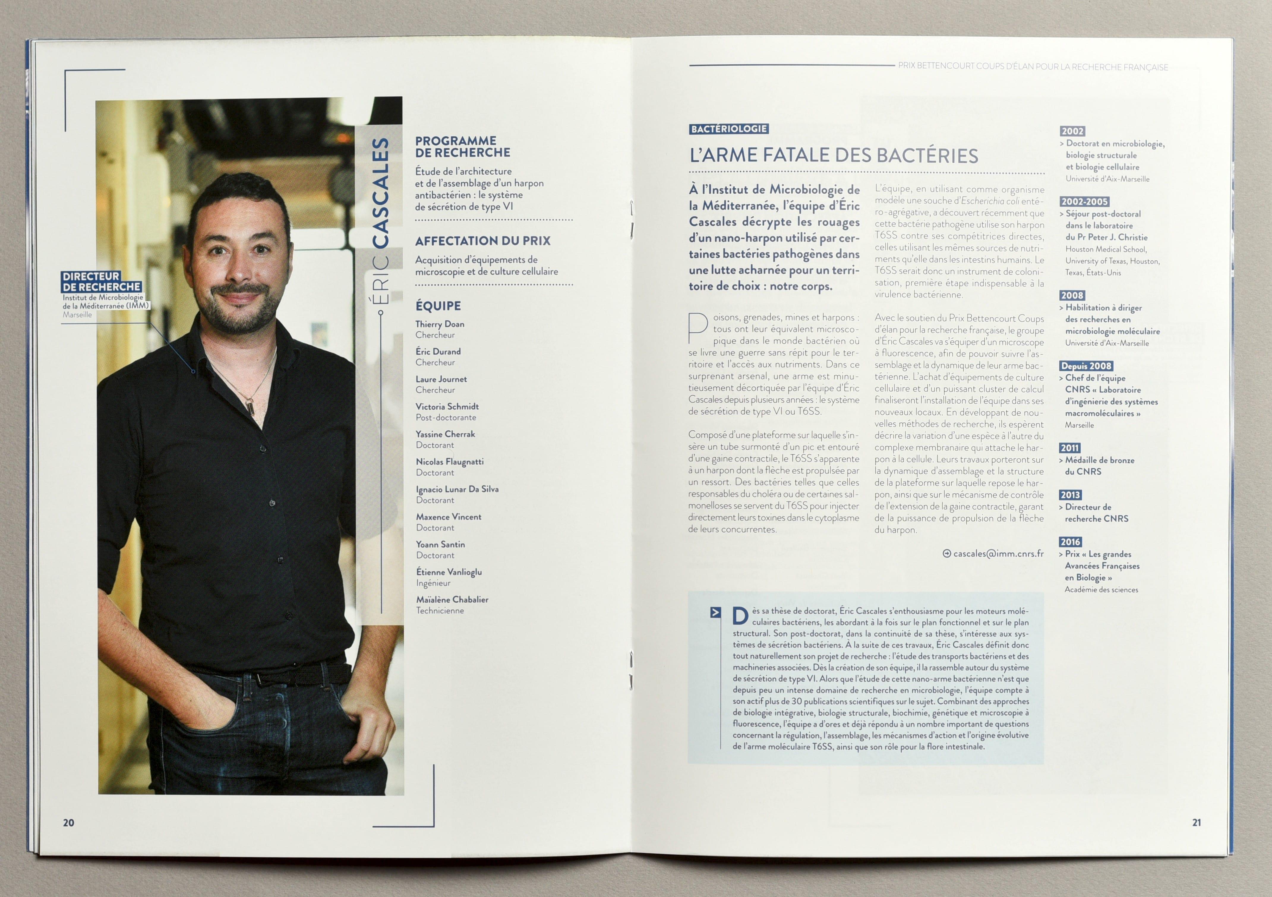 Brochure sur les lauréats 2018 du Prix Bettencourt de la Fondation Bettencourt-Schueller
