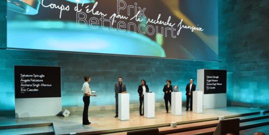 Prix Bettencourt. Cérémonie de remise de prix scientifiques.