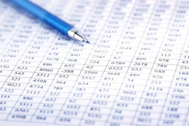 Tableaux de données.