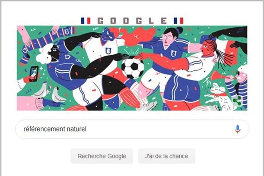 Page d'accueil google : référencement naturel
