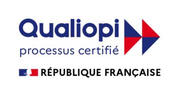 Logo de QUALIOPI, certification pour les acteurs de la formation professionnelle.